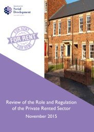 Review of the Role and Regulation of the Private Rented Sector