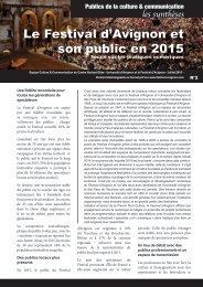 Le Festival d'Avignon et son public en 2015