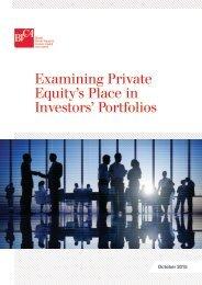 Examining Private Equity's Place in Investors' Portfolios