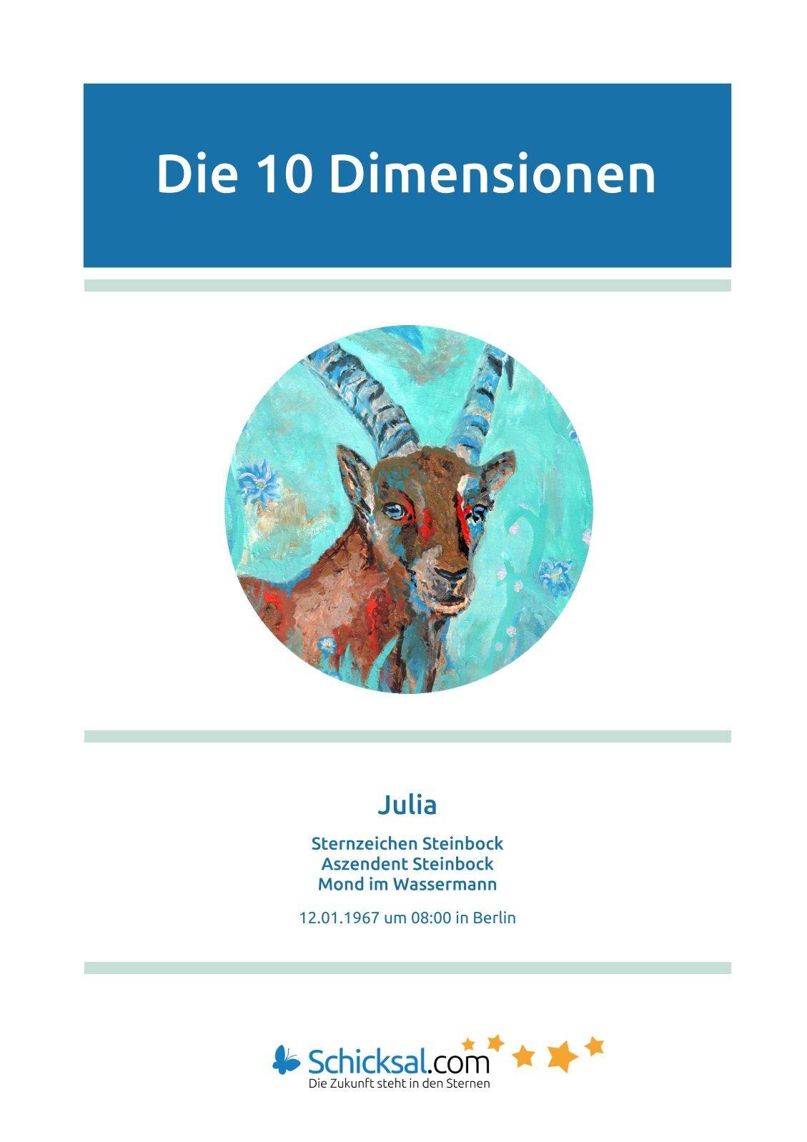 Steinbock - Die 10 Dimensionen - Horoskop