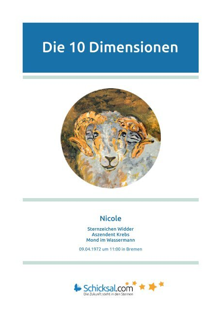 Widder - Horoskop - Die 10 Dimensionen - Horoskop