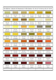 Farbkarte - GS Gitterrost + Bauteile AG