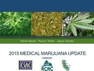 2015 MEDICAL MARIJUANA UPDATE