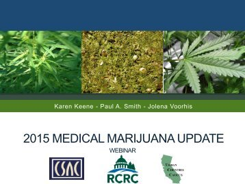 2015 MEDICAL MARIJUANA UPDATE