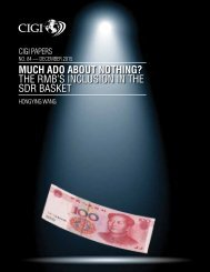 MUCH ADO ABOUT NOTHING? THE RMB'S INCLUSION IN THE SDR BASKET