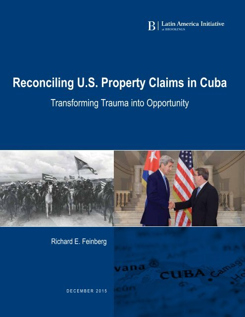 Reconciling U.S Property Claims in Cuba