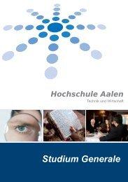 Hochschule Aalen Studium Generale