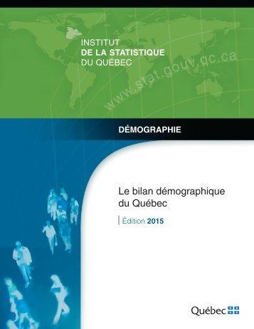 Le bilan démographique du Québec