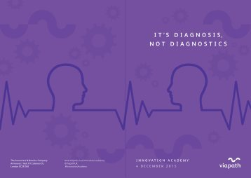 IT'S DIAGNOSIS NOT DIAGNOSTICS