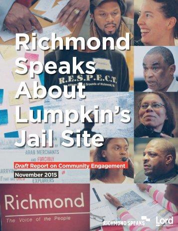 Richmond Speaks About Lumpkin's Jail Site