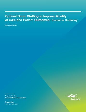 nurse staffing Background cross-sectional studies of hospital-level administrative data have shown an association between lower levels of staffing of registered nurses (rns) and increased patient mortality.