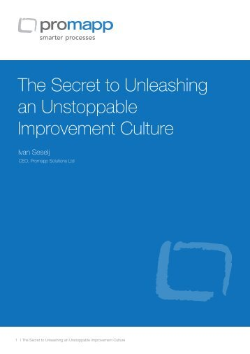 The Secret to Unleashing an Unstoppable Improvement Culture