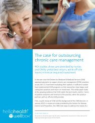 The case for outsourcing chronic care management