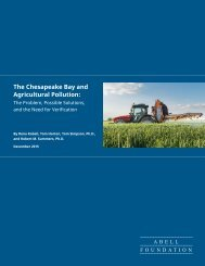 The Chesapeake Bay and Agricultural Pollution