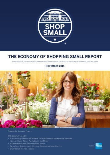 THE ECONOMY OF SHOPPING SMALL REPORT
