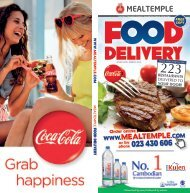 Phnom Penh restaurants delivery menus - Mealtemple DEC 2015 - MAR 2016