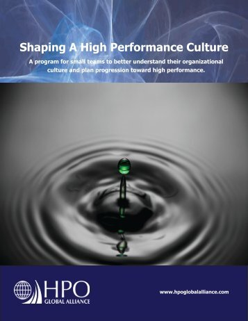Shaping HP Culture Brochure