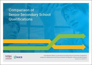 Senior Secondary School Qualifications