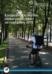 European facts and the Global status report on road safety 2015