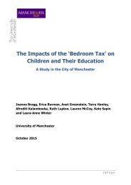 The Impacts of the 'Bedroom Tax' on Children and Their Education