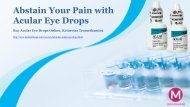 Abstain Your Pain with Acular Eye Drops