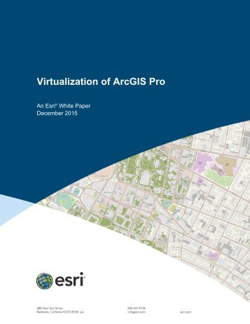 Virtualization of ArcGIS Pro