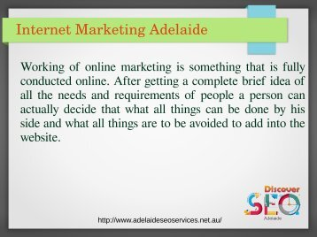 Adelaide SEO Internet Marketing Services