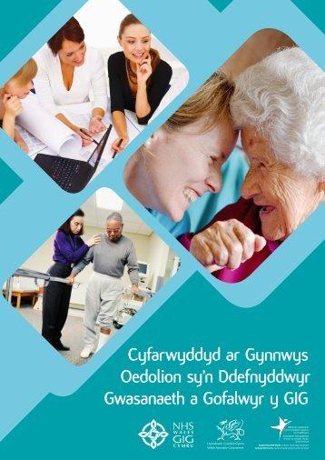 Cyfarwyddyd ar Gynnwys Oedolion sy'n ... - Health in Wales