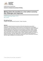 Making China the transition to a low-carbon economy Key challenges and responses
