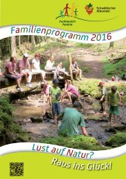 Familien-Programme 2016 im Schwäbischen Albverein.