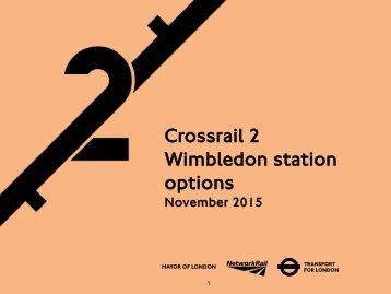Crossrail 2 Wimbledon station options