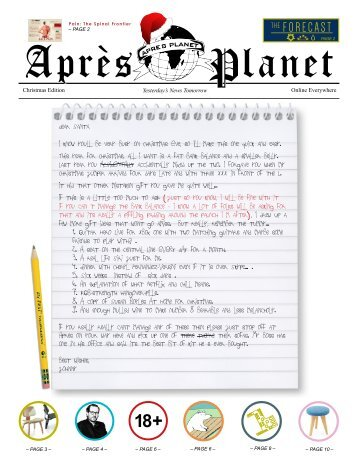 Apres Planet Christmas Edition