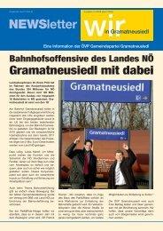 Liebe Gramat - neusiedlerInnen! - Volkspartei Gramatneusiedl ...