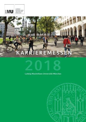 Vertriebskatalog Karrieremessen  2018 LMU München