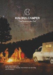 KALOHA.CAMPER - Broschüre