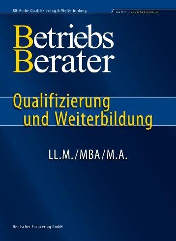 Qualifizierung - Betriebs-Berater