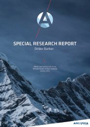SPECIAL RESEARCH REPORT
