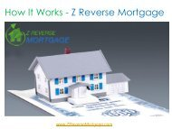How it Works - Z Reverse Mortgage