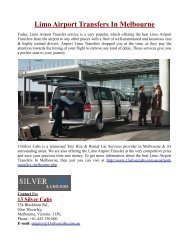 Limo Airport Transfers In Melbourne