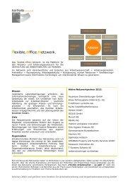 Jahresprogramm 2012 des flexible.office.netzwerk.