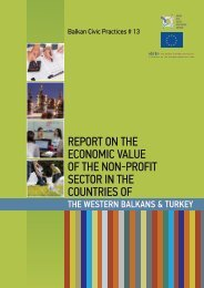 REPORT ON THE ECONOMIC VALUE OF THE NON-PROFIT SECTOR IN THE COUNTRIES OF