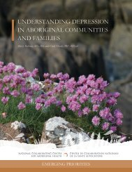 UNDERSTANDING DEPRESSION IN ABORIGINAL COMMUNITIES AND FAMILIES