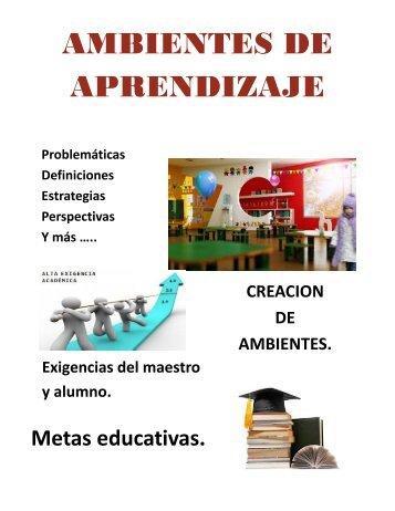 Revista - Ambientes de aprendizaje