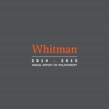 Whitman Annual Report 2015
