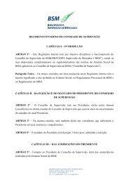 REGIMENTO INTERNO DO CONSELHO DE SUPERVISÃO ... - BSM