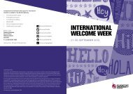 INTERNATIONAL WELCOME WEEK