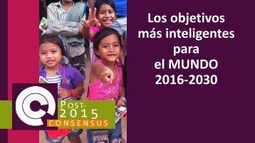 Los objetivos más inteligentes para el MUNDO 2016-2030