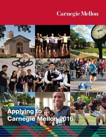 Applying to Carnegie Mellon 2016