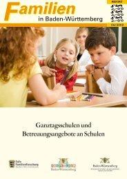 Familien in BW - REPORT 2009/4 - Ganztagsschulen und ...