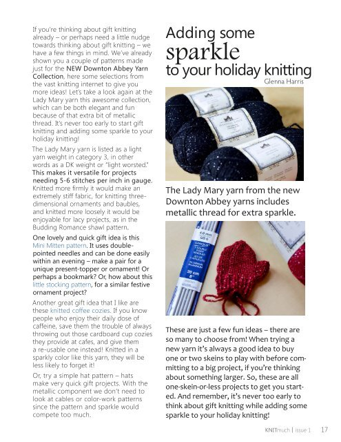 KNITmuch   Issue 01
